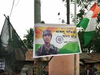 Pulwama terror attack: Mortal remains of martyr Bablu Santra reach Howrah
