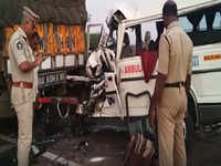 Andhra Pradesh: Ambulance rams into stationary truck, 4 dead