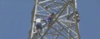 Shocking! Man jumps from electricity tower, caught on camera
