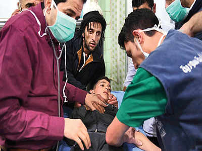 Over 100 injured in gas attack in Aleppo
