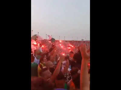 Fake alert: Video of Algerian fans celebrating football win shared as crowd gathered for Imran Khan in USA