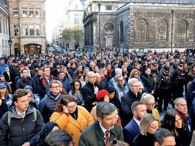 London holds vigil for terror victims