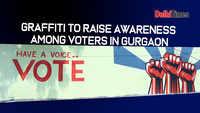 Graffiti to raise awareness among voters in Gurgaon