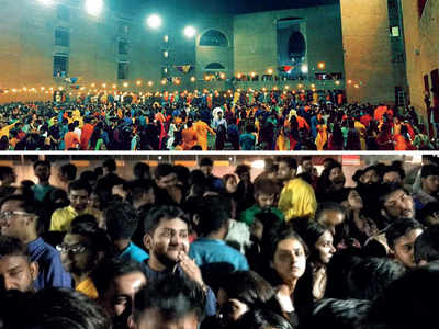 'Chaos' at IIMA garba after guards beat up latecomers