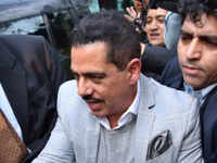 Money laundering case: Robert Vadra arrives at ED office