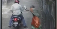 Caught on cam: Man snatches woman's chain in broad daylight, arrested