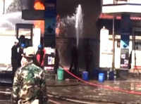 Firemen battle to douse fire at petrol pump in Imphal