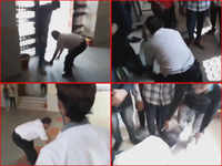 Viral video: MP professor apologises, touches protesting ABVP leaders' feet