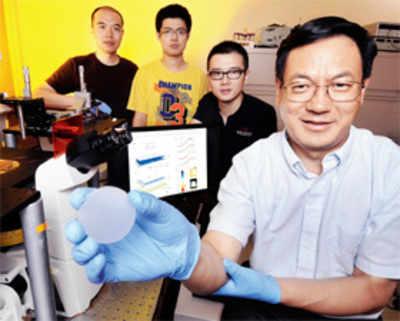 Sensor converts pressure to light