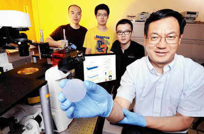 Sensor converts pressure to light
