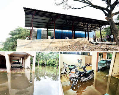 Civic body builds its waste centre inside flood line
