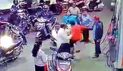 Man slaps homemaker at busy city petrol bunk
