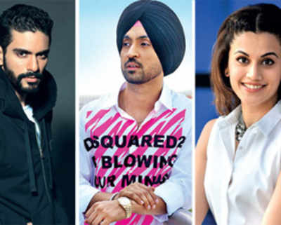 Angad in Diljit, Taapsee's team now