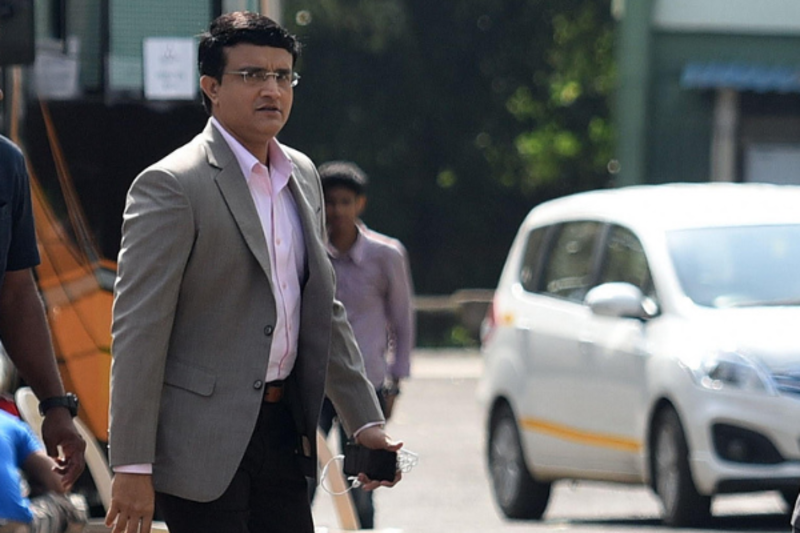 Sourav Ganguly spotted in filmcity