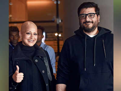 Sonali Bendre returns to Mumbai after cancer treatment