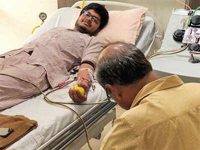 Surat lad Sarthak Goti donates stem cells to save dying child