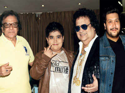 In a first, Bappi Lahiri collaborates with son and grandson on new projects