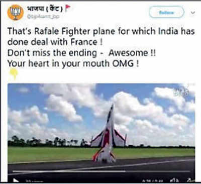 Fake News Buster: This is not a Rafale Jet