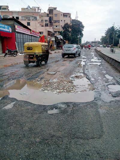 Hennur Road potholes reappear