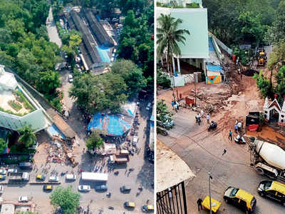 Lower Parel-Worli in just 10 minutes; 1.7-km stretch cleared of 25 structures, mostly shops