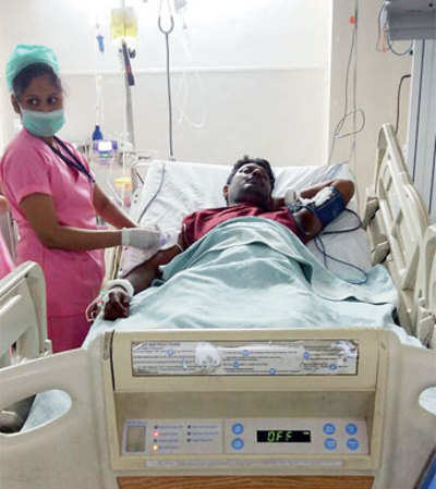 Unpaid for a year, DSK man suffers stroke