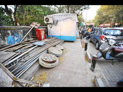 Construction waste dumped on FC Road pavement