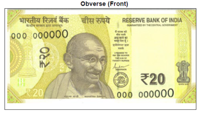 RBI to issue new Rs 20 note in Greenish Yellow colour with Ellora Caves motif; check photos