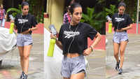 Malaika Arora rocks the gym look in crop top and shorts