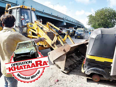 Operation Khataara: 30 clunkers cleared from outside Bandra Terminus
