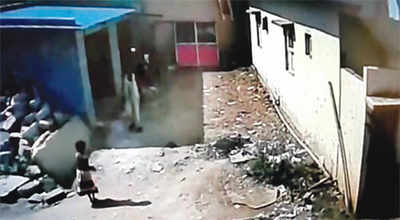 CCTV footage shows child with 'murderer'