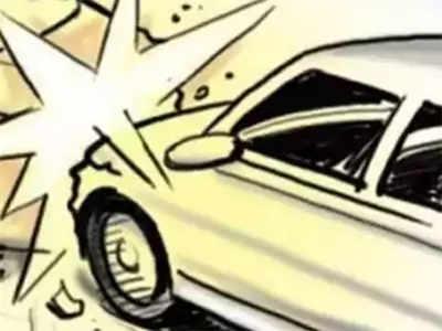 Lamborghini rams into auto, bike; driver on the run