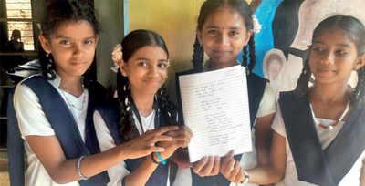 Karnataka: Children pen songs and prayers on cleanliness