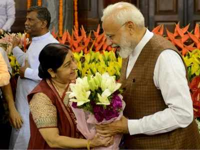 Sushma Swaraj thanks PM Modi, hopes new govt functions with glory