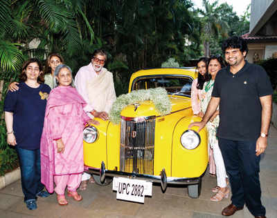Amitabh Bachchan is over the moon and a yellow Ford Prefect is the reason