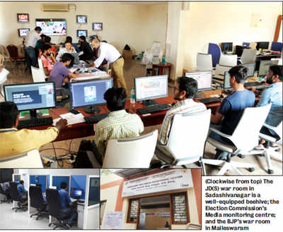 Parties are investing in hi-tech 'war rooms' to stir their poll pots