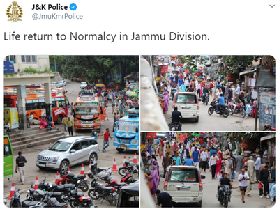 Fact check: Photos J&K Police tweeted claiming normalcy are not from Jammu?