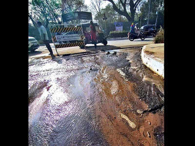 FC Road plagued with leaking water pipeline
