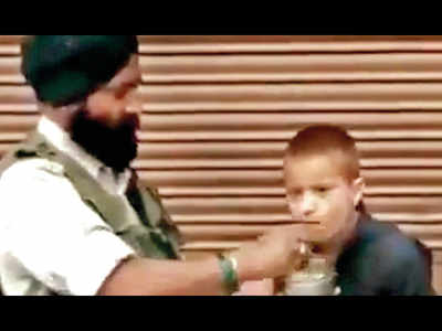 Video of soldier feeding Kashmiri boy with special needs goes viral