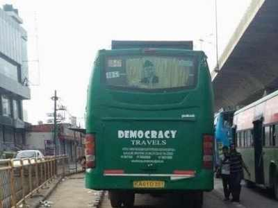 Bengaluru: Picture of Jinnah on bus gets social media on fire