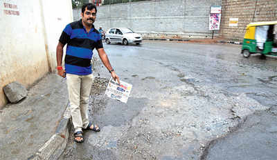 BBMP quick to 'fill' all  potholes on its website