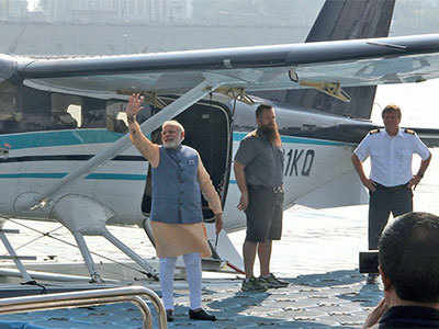 Gujarat Elections 2017: PM Narendra Modi's seaplane came from Karachi?