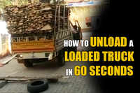 How to unload a loaded truck in 60 seconds