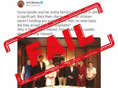 Fake alert: Amit Malviya shares 2017 photo from Delhi to claim Gandhi family visited China in 2008