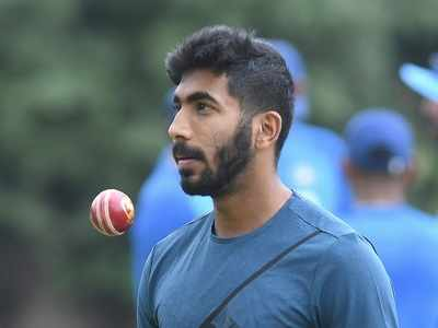 For a change, Jasprit Bumrah flexes his elbow joints