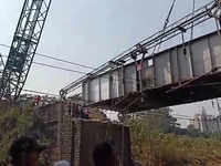 Mumbai: Suburban train services suspended for brief period due to demolition of Patri Pool