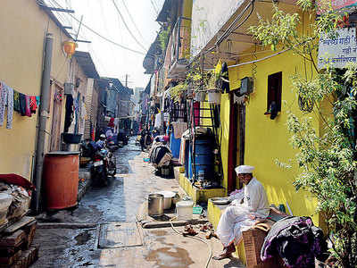 This vasti's residents have no option other... than open defecation