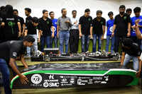 IITM team unveils hyperloop prototype for SpaceX contest