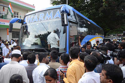 Karnataka Elections 2018: Congress MLAs packed off in bus to safe place