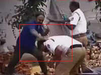 On cam: Man attacks two traffic cops in Bengaluru