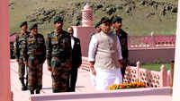 Defence Minister Rajnath Singh visits Kargil War Memorial in J&K